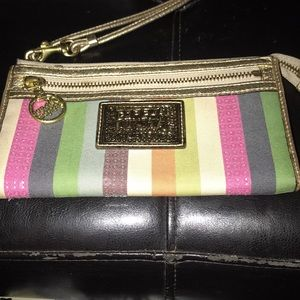 Ladies multi color coach wallet